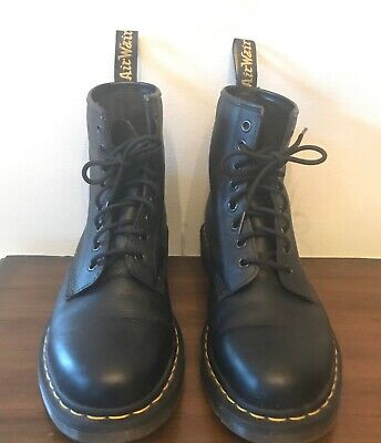 Dr. Martens Men's Nappa 1460  8-Eye Black Leather Boots Size 9 US