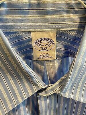brooks brothers 15.5 32/33 buttondown shirt slim fit preowned
