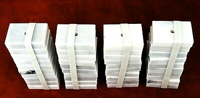 """Lot of 40 New - WHITE MARBLE - Trophy Lamp 1 Hole Base - 3""""Lx2""""Wx.75""""H"""