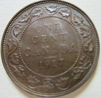 1917 Canada George V Large Cent Coin. NICE GRADE 1 Penny (C445)