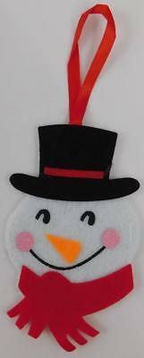 Snowman Felt Ornament Gift Card Holder New Holiday Christmas