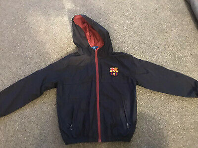 FC Barcelona Official Football Gift Boys Shower Jacket Windbreaker age 6-7yrs