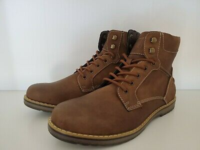 Izod Neal 630237 Mens Brown Leather Casual Dress Lace Up Boots Shoes