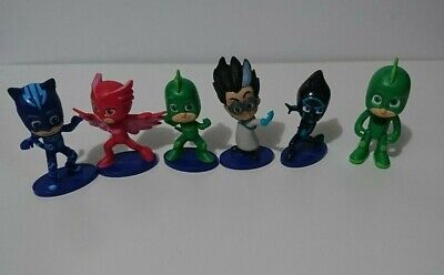 PJ MASKS 6 action figures Bundle: Catboy, Owlette, 2 x Gekko, Night Ninja, Romeo