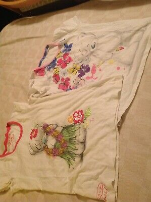 M&s Girls Pyjama Tops Age 11-12 Yrs Tatty Teddy