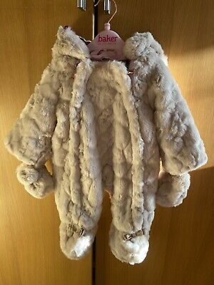 Ted Baker Girls Snowsuit Newborn *Brand New Without Tags*