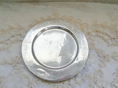 "Simpson, Hall, Miller & Co. Sterling Silver Engraved 6"" Plate"