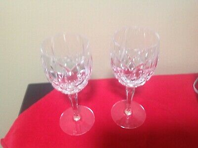 2 Gorham Crystal Lady Anne Wine Glasses -6 7/8""