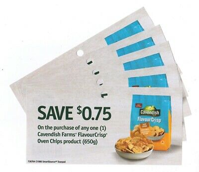 15x Save $0.75 on Cavendish FlavourCrisp Oven Chips Products Coups (Canada)