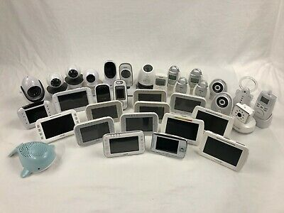 Lot of 34 Baby Cameras and Monitors Summer Infant Vtech Motorola FOR PARTS