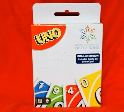 Uno Braille Card Game National Federation of the Blind Target Exclusive In Hand
