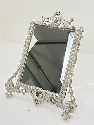 Nickel Plated On Brass Picture Frame/Bathroom Mirror!