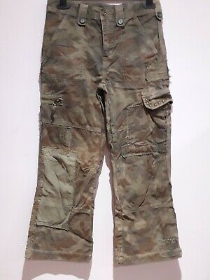 Brand New No Tag Boys Khaki Green Camouflage Combat/Cargo Jeans - Age 11 Years