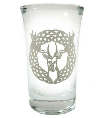 Celtic Stag Shot Glass- Free Personalized  Engraving, 1.5oz Engraved