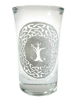 Tree of Life Shot Glass - Free Personalized Engraving, 1.5 World Tree