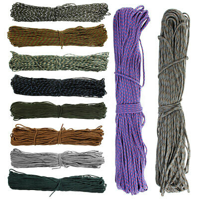 300FT Durable 550 Parachute Cord Rope Paracord Lanyard 9 Strand Core AU  P
