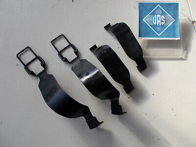 1984 Mercedes R107 380SL Rear trunk battery box metal Locking Straps SET 107200