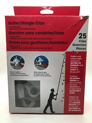 Set of 22 Christmas Gutter or Shingle Clips for Holiday Lights