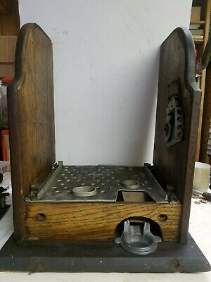 Mills Gooseneck Slot Machine Cabinet/Case With Handle For Parts Or Repair