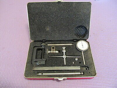 Vintage Starrett Universal Dial Test Indicator #196 Case~~ Machinists~~