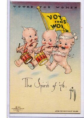 Woman Suffrage Postcard - Votes for Women Suffragette Kewpies by Rose O'Neill