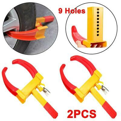 2x Wheel Lock Clamp Boot Tire Claw for Trailer Auto Car Truck Anti-Theft Towing