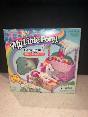 1997 My Little Pony G2 Canopy Bed Light Heart Pony Playset Sealed Vintage Rare