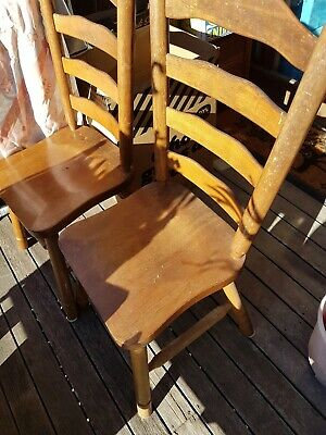 2 VINTAGE  Colonial country style RETRO Antique chairs . Solid heavy strong