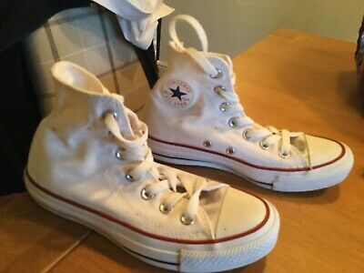 Converse White Trainers All Star Infant Uk 5 White High Tops