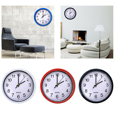 Quartz Silent Modern Home Battery Operated  Time 8 Inch Round Wall Clock
