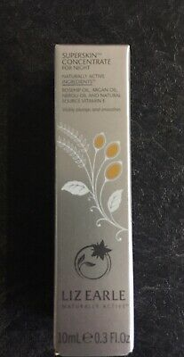 New, Sealed Liz Earle Superskin Concentrate For Night 10Ml With Neroli/Argan Oil
