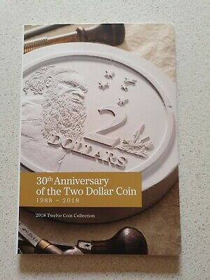 2018 30th Anniversary of the $2 Coin, 12 x $2 Unc Coin Collection in RAM folder