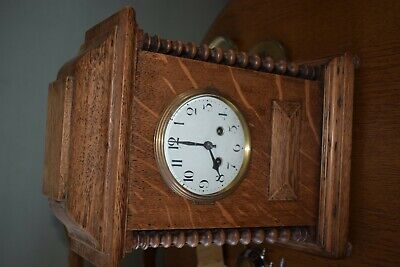 Antique German Hac Wurttemberg Cross Arrows Chiming Mantle Clock