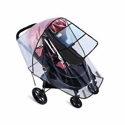 Rain Cover for Pushchair Universal Infant Stroller Raincover with Clear Water...