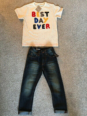 Boys Next Outfit BNWT Jeans And Top 4 And 4-5