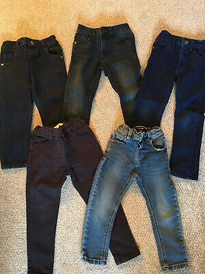 5 Pairs Boys Next And Bluezoo Jeans 2-3 And 3 years