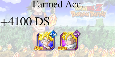 Dokkan Battle🌟iOS🌟Gohan AGL + Gohan INT + 1 LR +5700 DS🌟Farmed Account Global