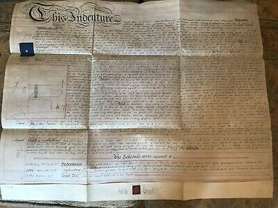 Indenture Conveyance February 1869. Property in St James's Road, Croydon