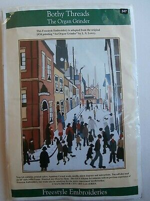 Bothy Threads L S Lowry The Organ Grinder embroidery kit freestyle NEW