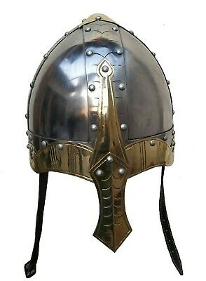 Viking Norman Knight Helmet With Liner Medieval Reproduction Helmet +stand