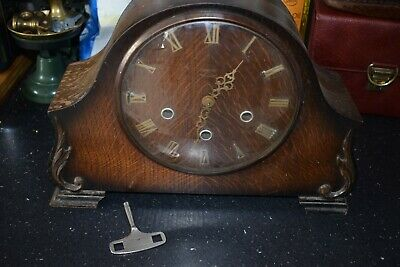 Vintage 1950s Smiths 8 Day Westminster Chimes Mantle Clock With Key Restoration