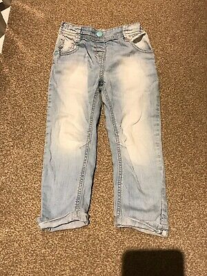 Next Girls Light Blue Washed Denim Trouser/Jeans Age 3-4 Years