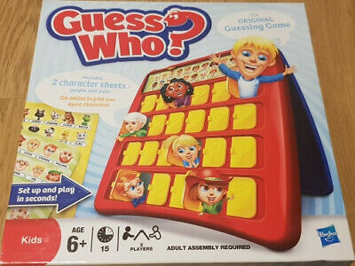 GUESS WHO Game Hasbro Kids Mystery Guessing Fun COMPLETE