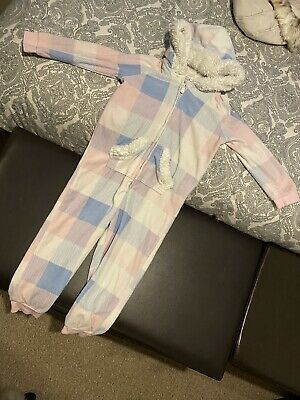 Girls All In One Sleepsuit, Pj's Age 3-4