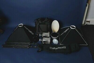 Elinchrom Style 400fx - TWIN Kit stands / soft boxes and accessories