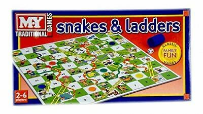 M.Y. Traditional Full Size Snakes and Ladders Family Board Game Kids Toy Classic