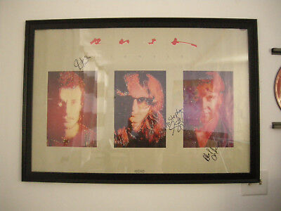 Neil Peart RUSH SIGNALS AUTOGRAPHED   POSTER - RARE