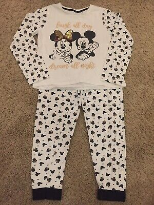 Mickey And Minnie Mouse Pyjamas PJs Age 11-12years