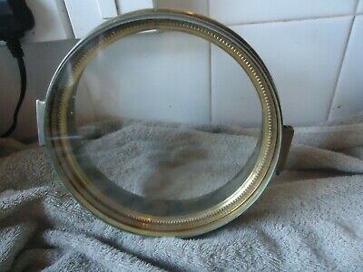 Vintage Hinged Clock  Bezel With    Glass.