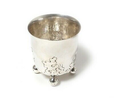 SILVER beaker (cup) on ball legs. Sweden, Stockholm, Anderson K, year 1922